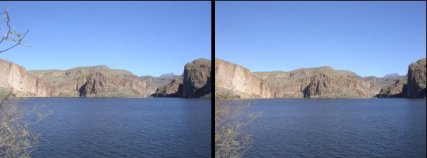 Canyon Lake Stereo Image